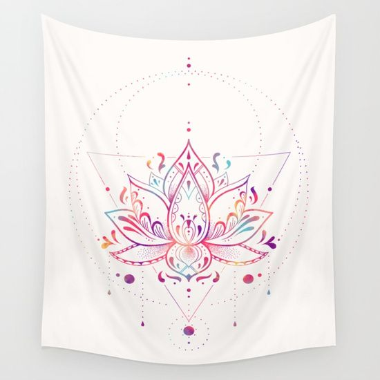Lotus Prism Wall Tapestry by Nayla Smith  Worldwide shipping