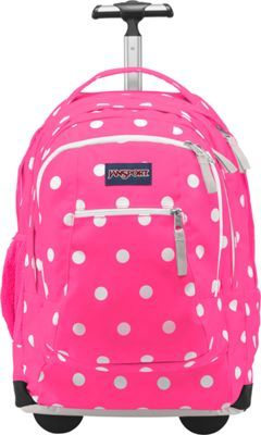 ee396c834e8d5 JanSport Driver 8 Rolling Backpack Fluorescent Pink Spots - via eBags.com!