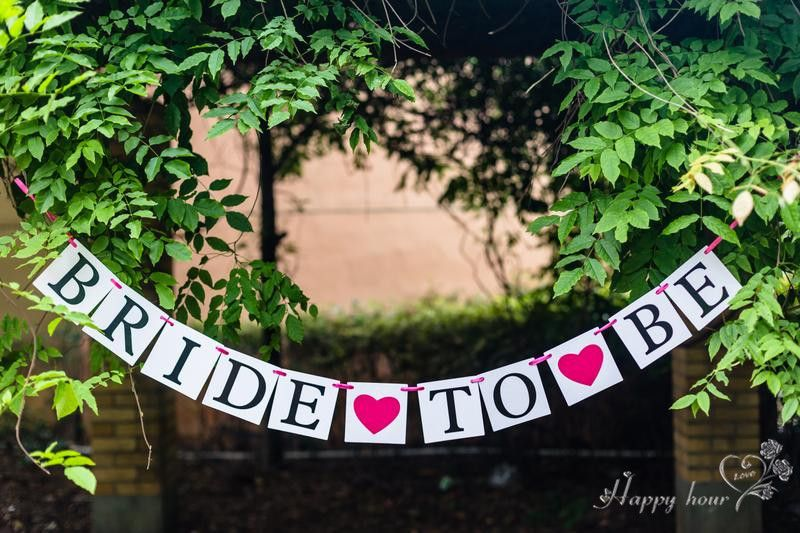 Hen Party Bunting Bride to Be Wedding Banner Garland Hanging Sign Bridal Shower