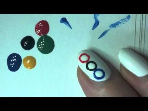 Do you want to show your Olympic Spirit on your nails?  Here's one way to do it!