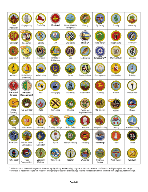 Boy Scout merit badges give scouts the opportunity to investigate ...