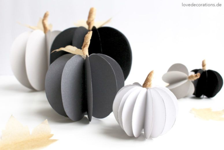 14 DIY Paper Decorations For Fall And Thanksgiving DIY Autumn - halloween decoration printouts