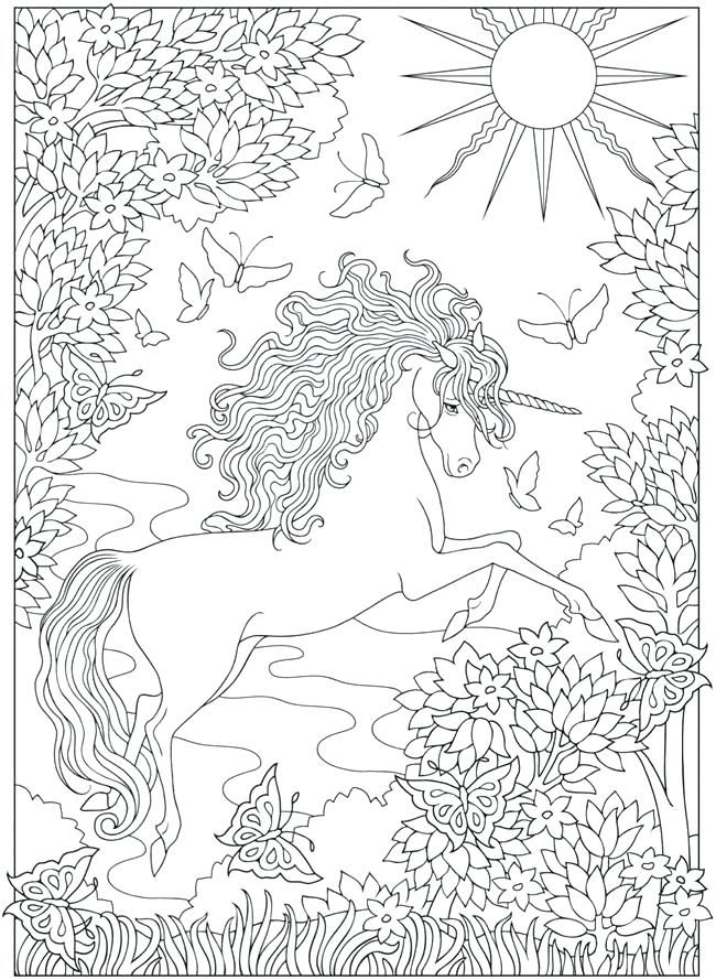 Unicorn Coloring Pages for Adults | Unicorn coloring pages ...