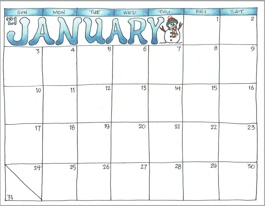 2021 Scrapbook Calendar - January | Scrapbook calendar ...