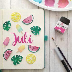 Lettering Galerie von Zauber ein Lächeln: Mein Portfolio entdecken #augustbulletjournal