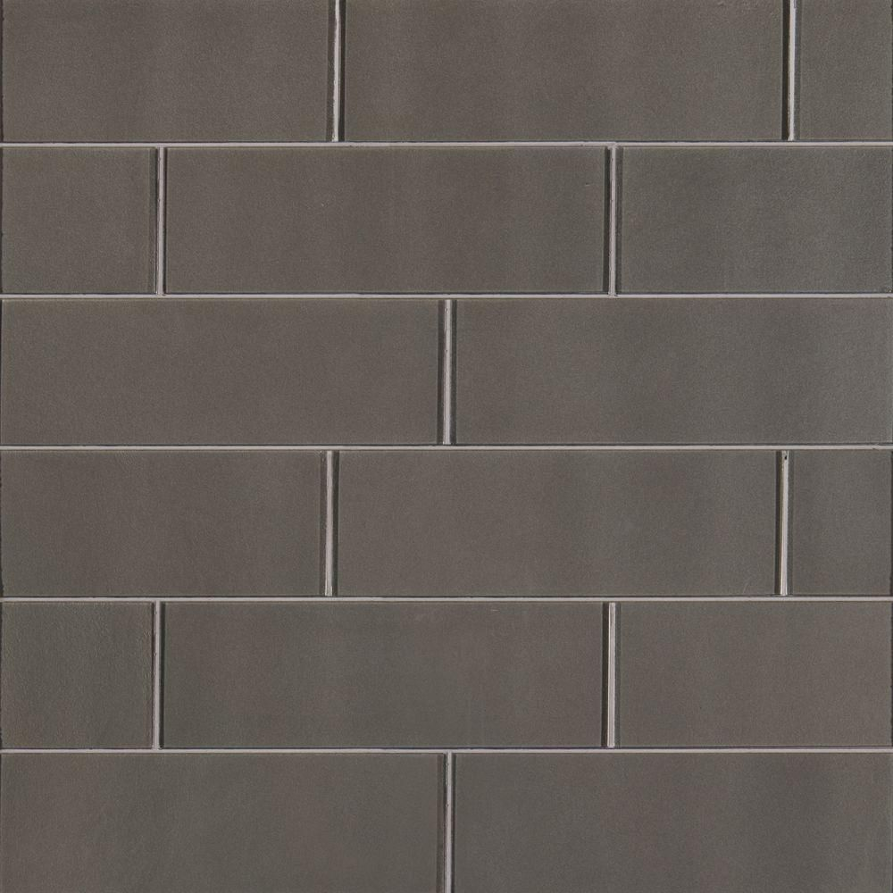 Ms International Metallic Gray 4 In X 12 Gl Wall Tile 5 Sq Ft Case T Mg412 The Home Depot