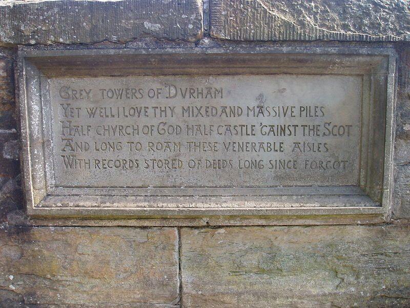Scott inscription (Prebends Bridge) - Prebends Bridge