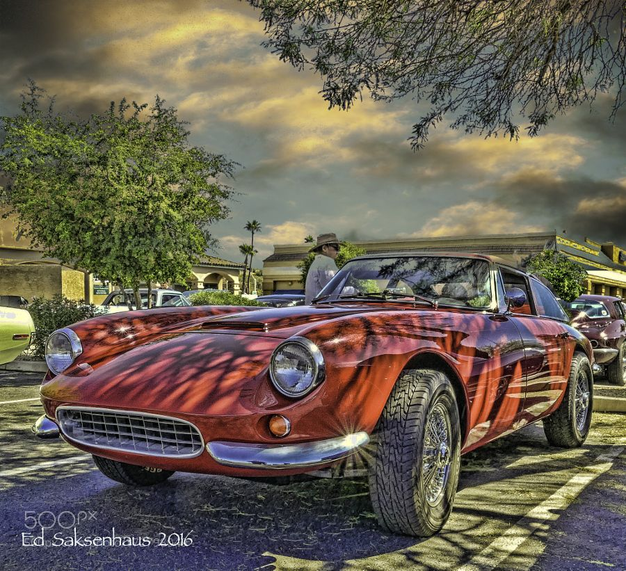 Red Sport Car At Fountain Hills Car Show By Esaksenhaus - Fountain hills car show