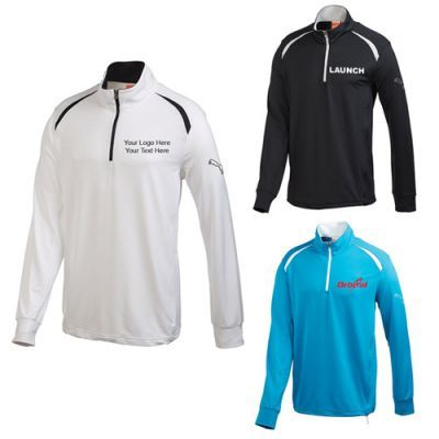 """Customized Men's Puma Golf Long Sleeve Quarter Zip Tops:  Will end the struggle to find the right top to wear during chilly days. Available Colors: White, Blue Aster, Black. Product Size: S, M, L, XL, 2XL, 3XL.. Imprint Area: Centered on Left Chest & Right Chest 4.00"""" H x 4.00"""" W. Material: 90% Polyester 10% Elastane French Terry. #trends #menswear #golf #puma"""