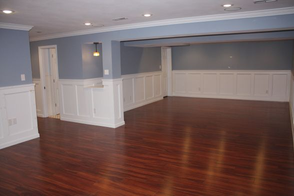Elegant Basement Basement Remodeling Dining Room Wainscoting Faux Wainscoting
