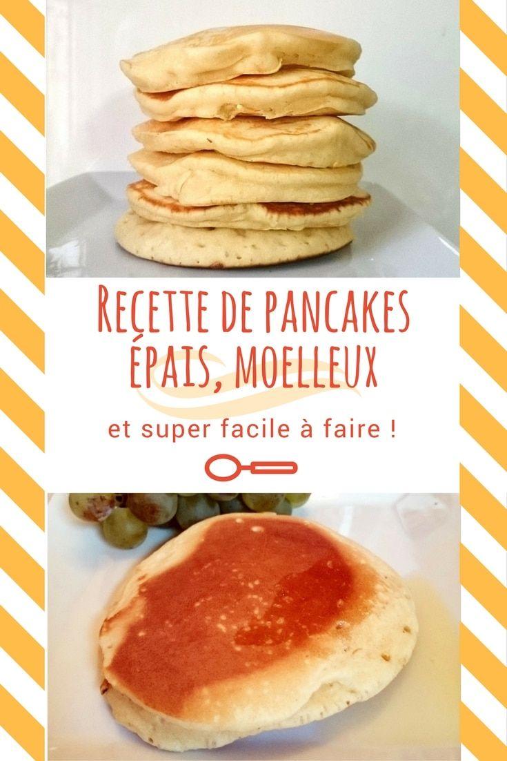 Recette inspirée américaine de pancakes super épais et très moelleux