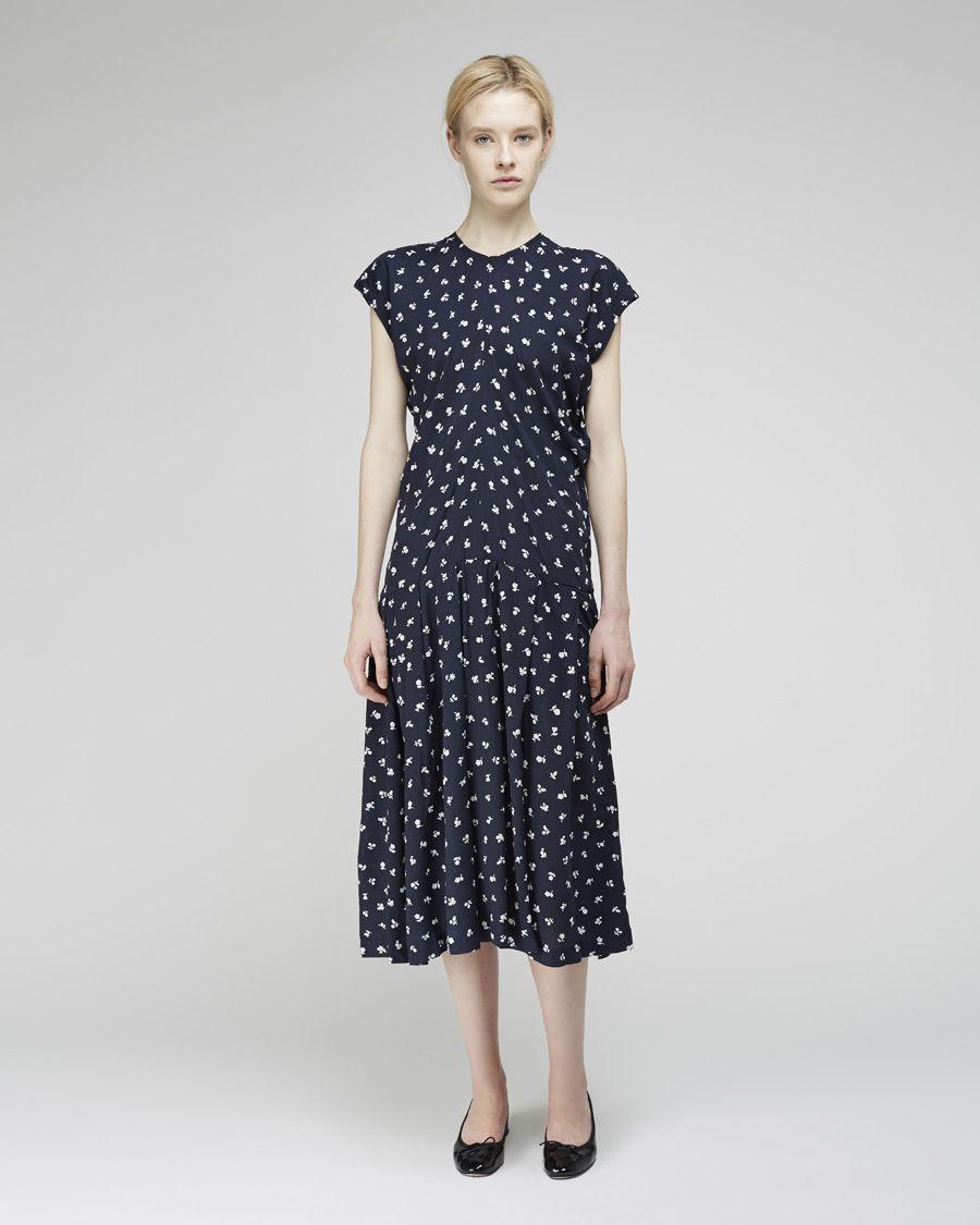 Comme des Garçons Comme des Garçons flower printed short sleeve dress