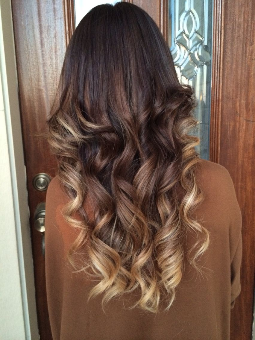 My Ombre Chocolate Brown Fading Into Ash Blonde With Images