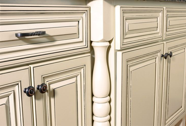 incredible cream distressed kitchen cabinets | Off white kitchen cabinets ... | Distressed kitchen ...