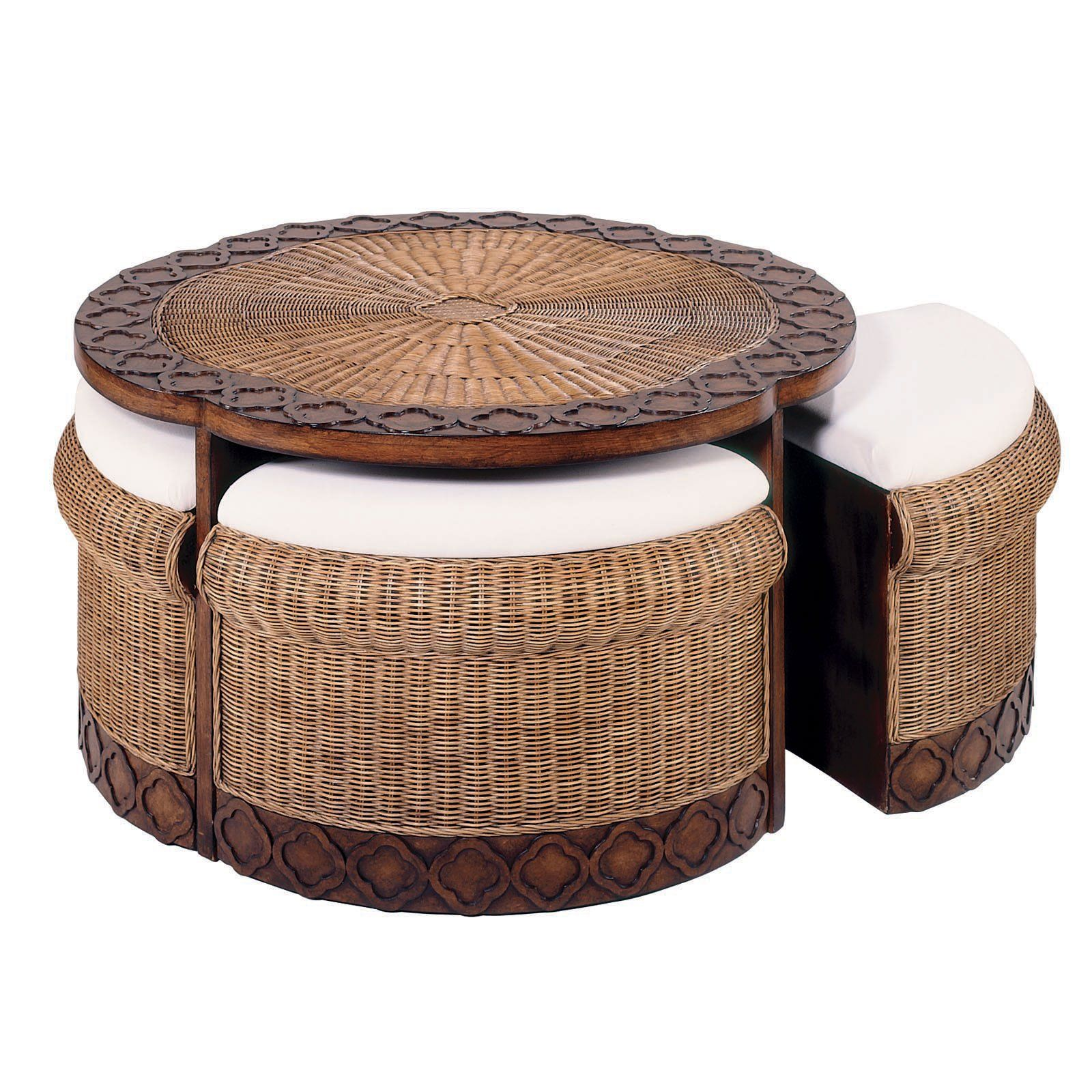 Have To Have It Bali Rattan Coffee Table With Stools
