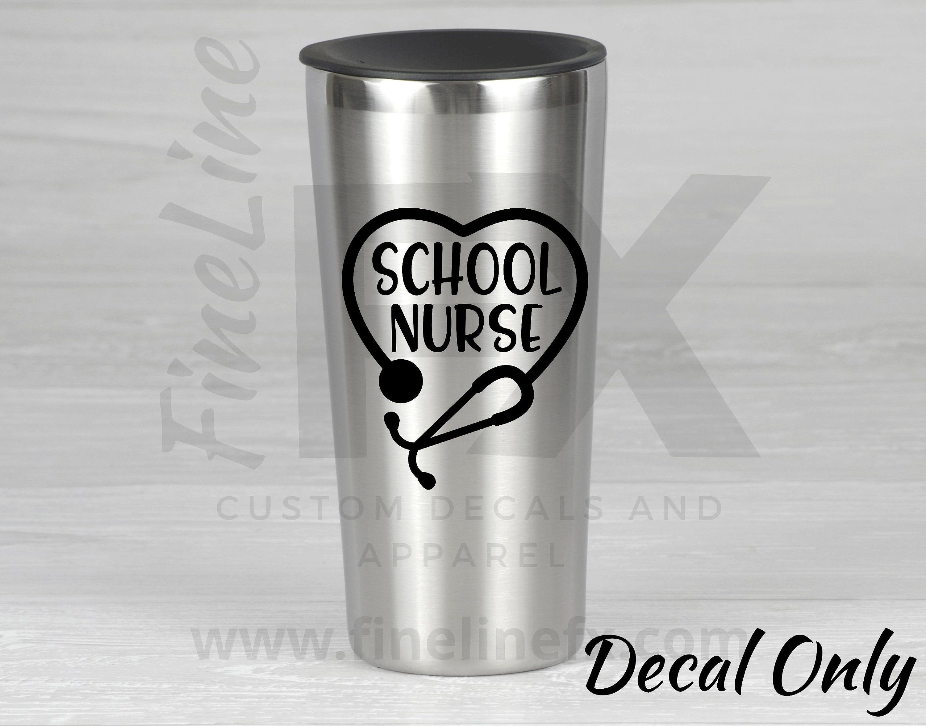 School Nurse Stethoscope Vinyl Decal Sticker Decal For Cars Laptops Tumblers And More Vinyl Decal Stickers Vinyl Decals Stethoscope Decal [ 2352 x 3000 Pixel ]