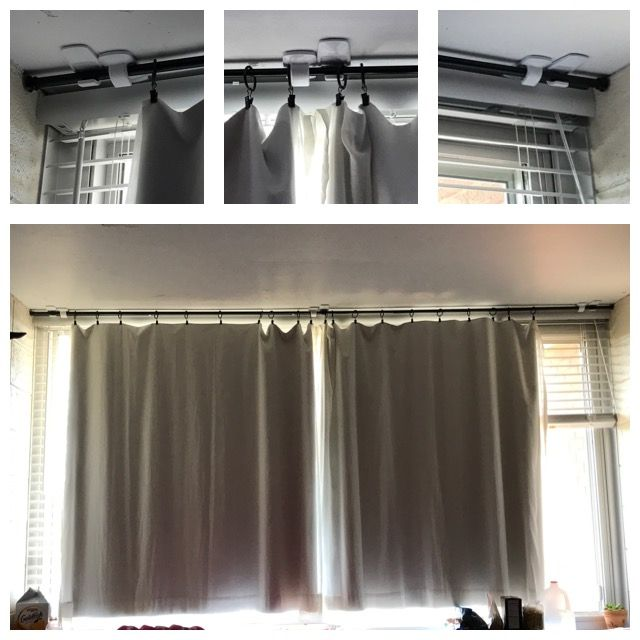 How To Hang Dorm Curtains Extra Wide Window 9 9 Rod Better Homes And Gardens Add On Rod Double Curtain With Images Dorm Curtains Curtains Dorm Room Curtains