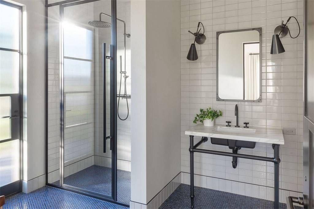 Modern Bathroom Design Ideas Blue Floors Bathroom Design Modern Bathroom Design White Tile Shower