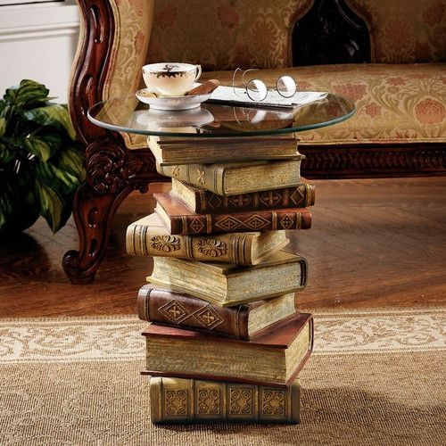 Book Design Sculptural Coffee Table