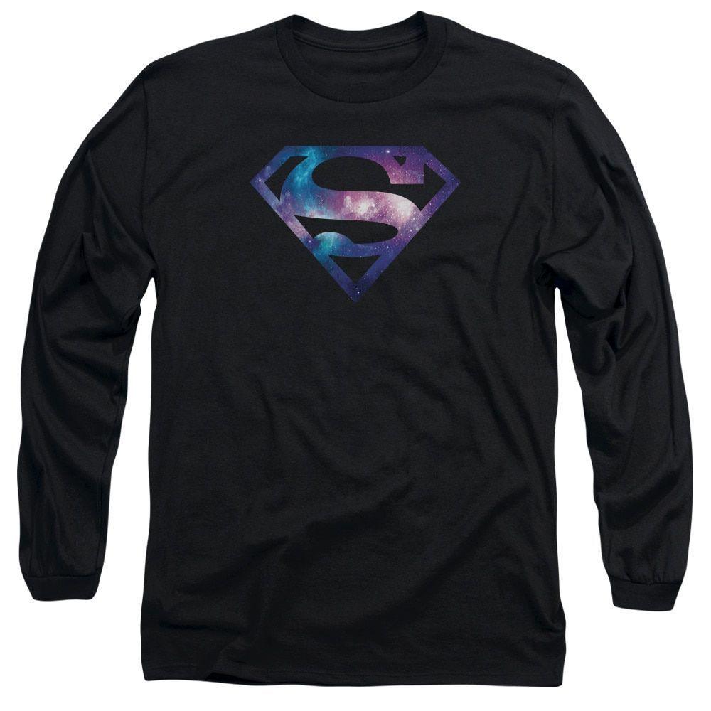 Superman/Galaxy Shield Long Sleeve Adult T-Shirt 18/1