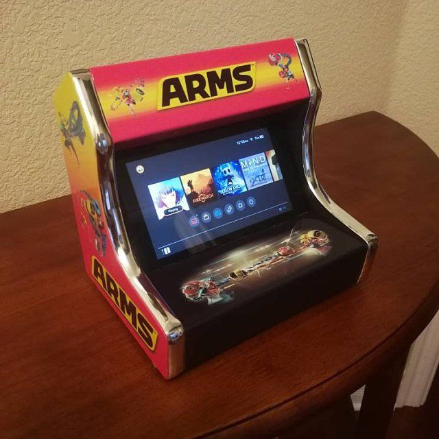 Custom Nintendo Switch Arcade Cabinets made by theAVEcustoms -