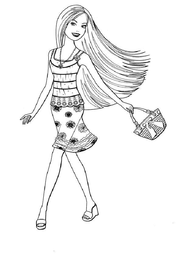 ausmalbilder barbie -71 | Ausmalbilder Barbie | Pinterest ...