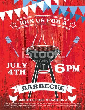 Bbq Invitation Template With A Black OldFashioned Barbecue With