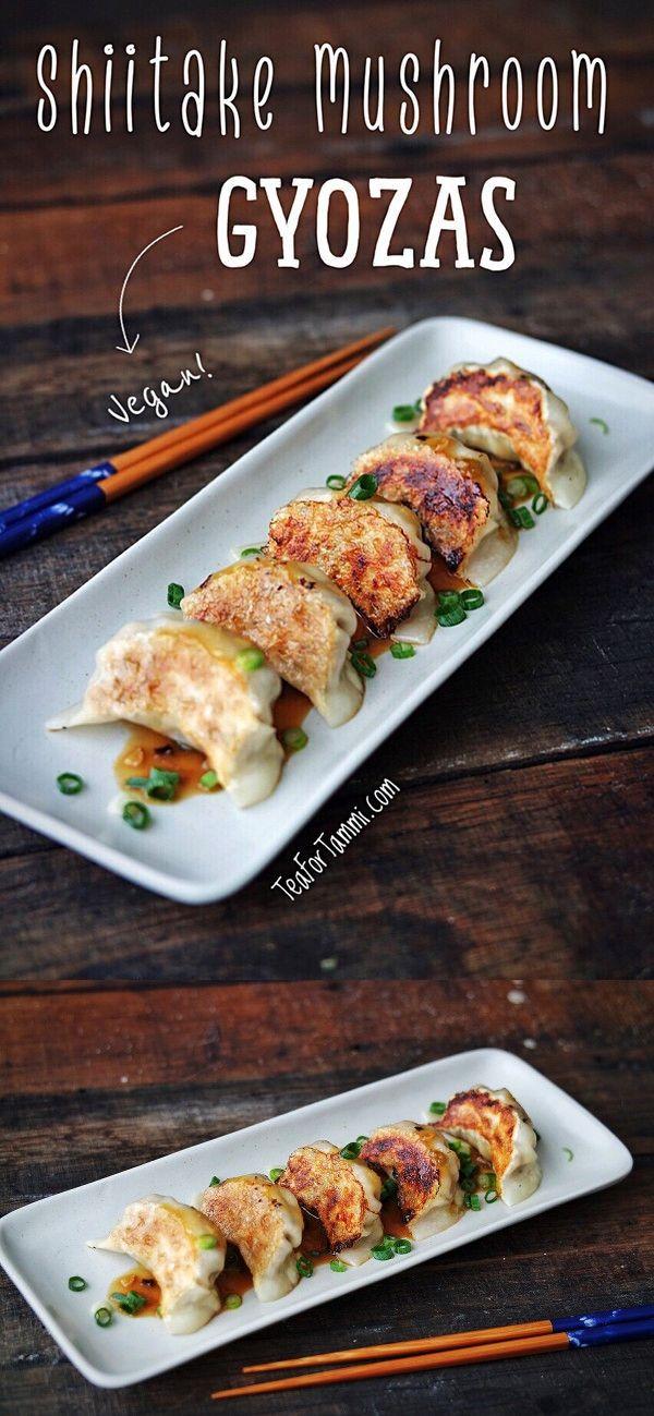 Shiitake Mushroom Gyoza Recipe Recipes Stuffed Mushrooms Vegan Recipes