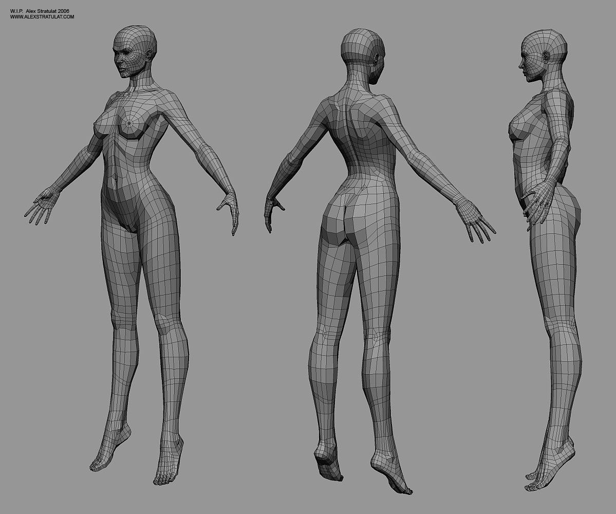 CGTalk - Buttocks topology (female) - and pelvis area | MODEL SHEET ...