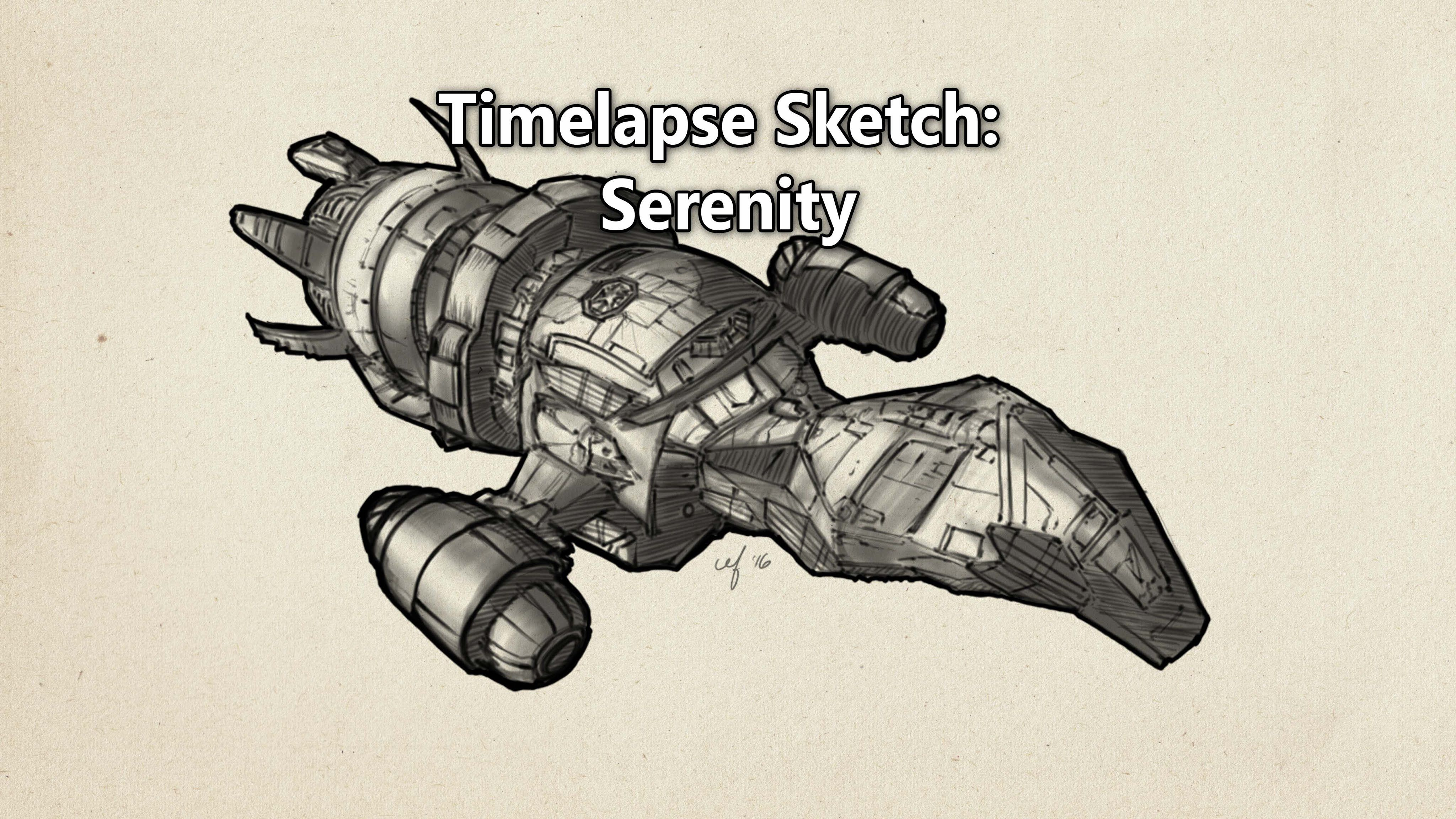 Time Lapse Sketch of Serenity