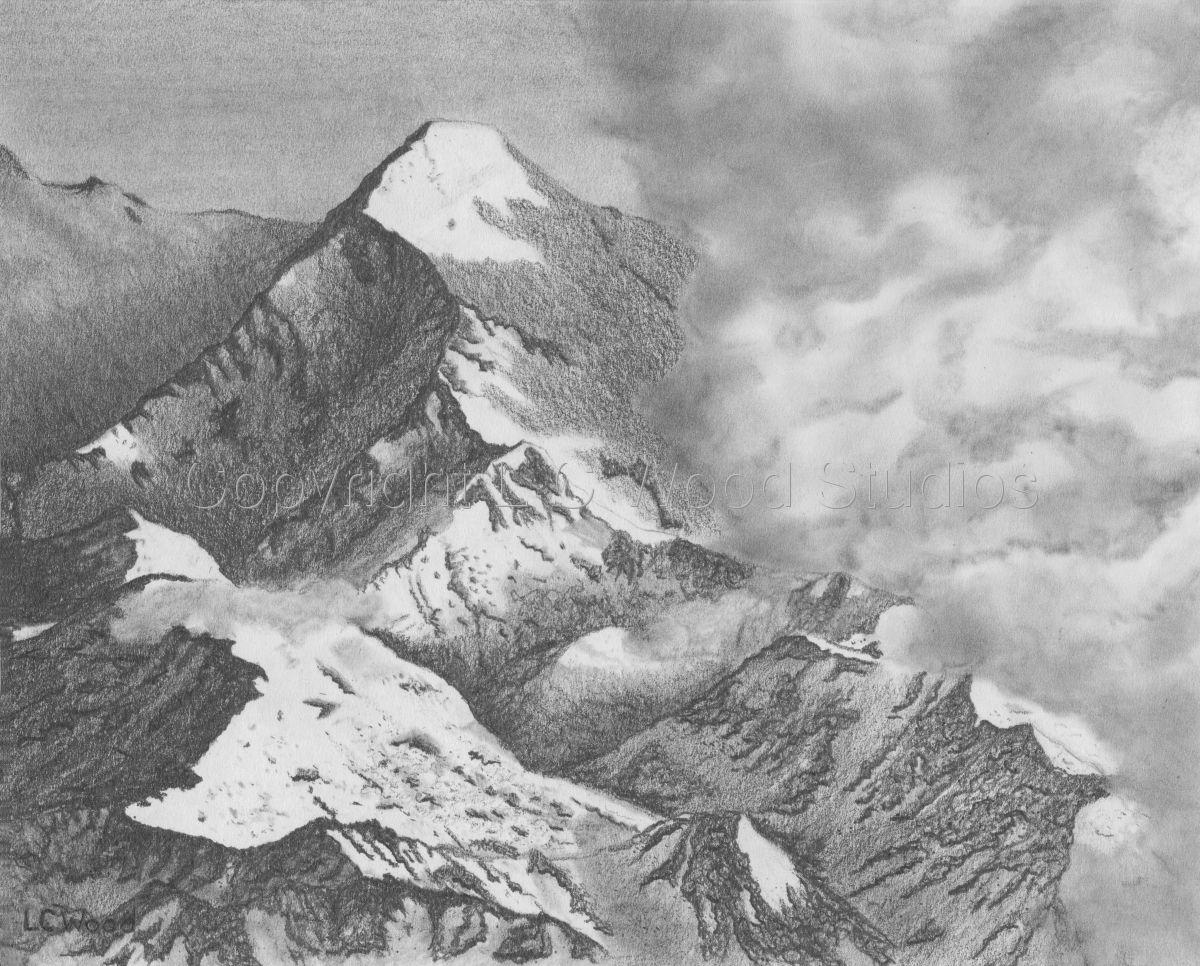 Drawing Impending Storm Original Art By L C Wood Studios Landscape Pencil Drawings Mountain Drawing Mountain Landscape