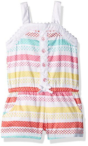 f1fc13bc37b2 Little Me Baby Toddler Girls Woven Romper White Print 2T     For more  information