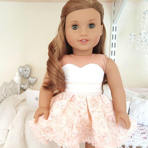 "GOLD METALLIC STRETCH DENIM SKIRT fits 18/"" American Girl Dolls Doll Clothes"