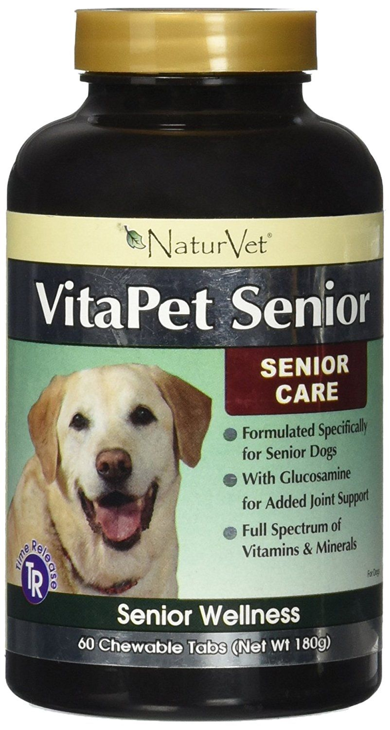 Vitapet Serior Vitamins With Glucosamine 60 Tabs You Can Get More Details By Clicking On The Image This Is An Affiliate Glucosamine Dog Health Vitamins
