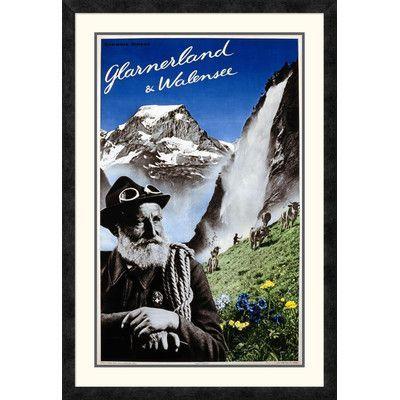 Global Gallery 'Glarnerland and Walensee' by Herbert Matter Framed Vintage Advertisement Size: