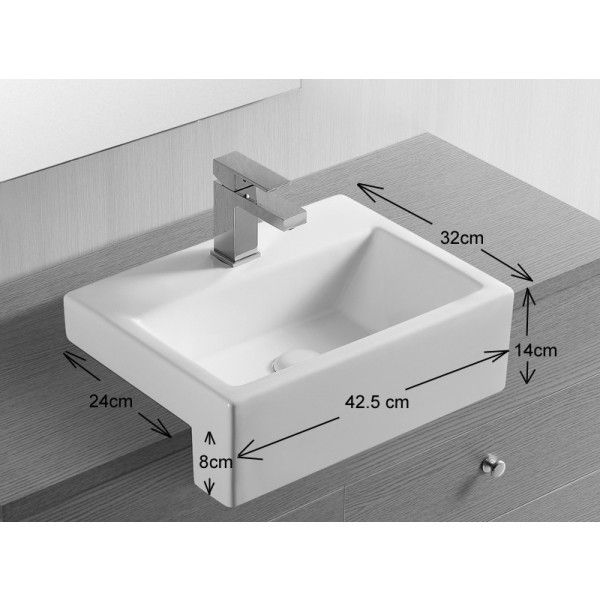 Anadia Countertop Semi Recessed Sink Bathroom