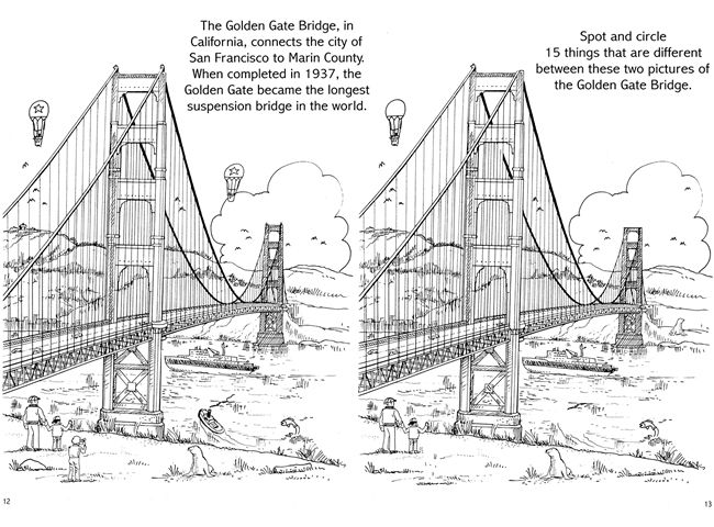 Spot-the-Differences Across the USA ONE SAMPLE PAGE