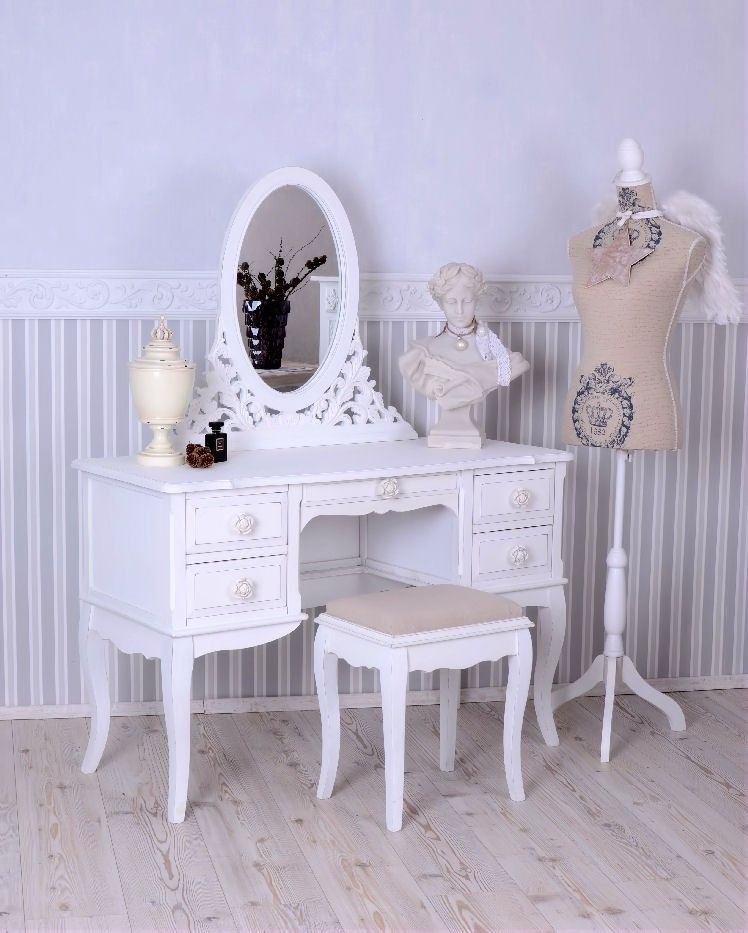 schminktisch hocker frisiertisch poudreuse frisierkommode shabby chic m bel pinterest. Black Bedroom Furniture Sets. Home Design Ideas