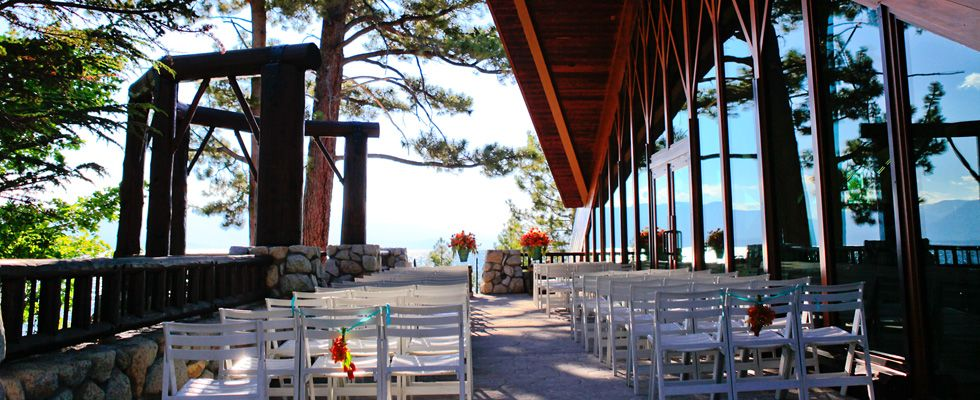 The South Terrace At Edgewood Tahoe Provides A Great Outdoor Wedding Venue Your Reception Moves
