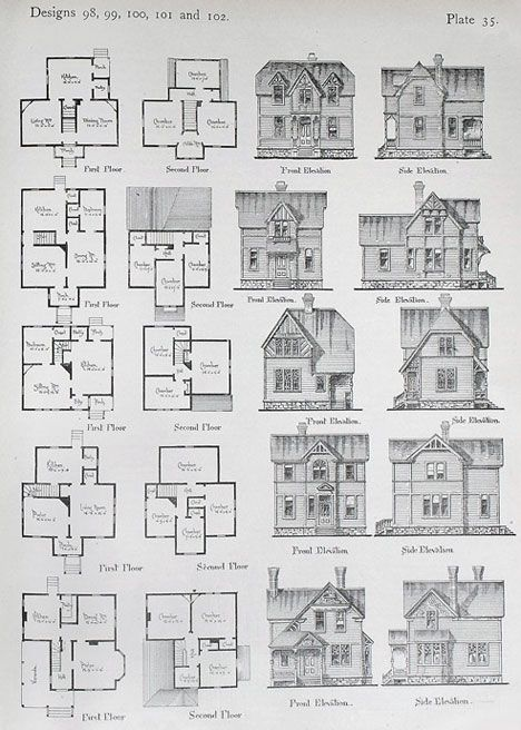Exhibition On 19th Century Diy Architecture Manuals Victorian House Plans Vintage House Plans House Plans