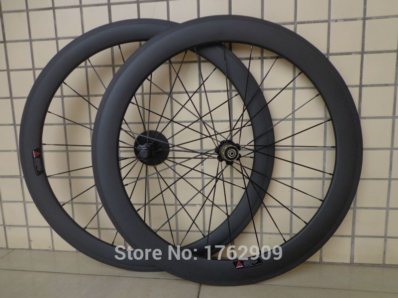 60mm Depth Clincher Full Farbon Wheels Road Bike Bicycle Wheelset UD Matte 700C