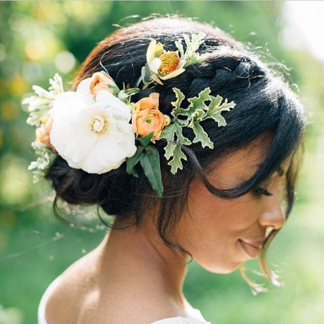 Boho hair idea for our backyard forest wedding.