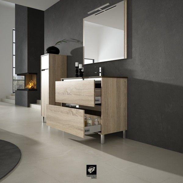 Cuarto de baño con mobiliario Nora - Banium