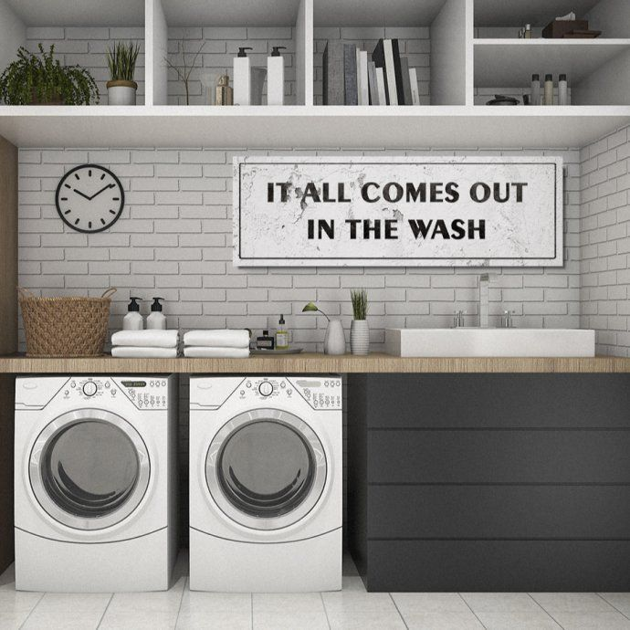 12x36 Large Laundry Rooms Signs 45 Designs Laundry Room Diy