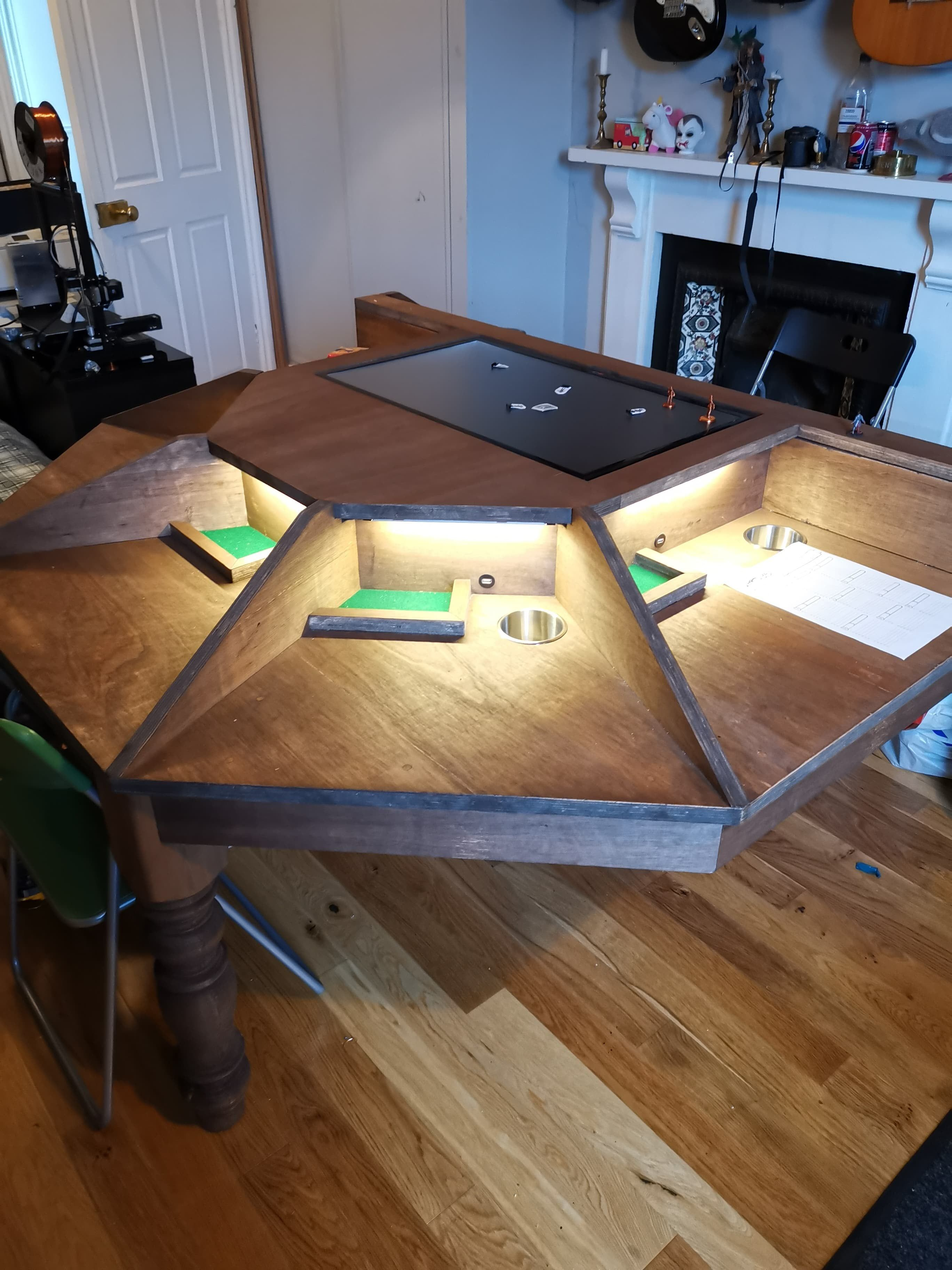 My Dad and I made a DnD table it got out of hand