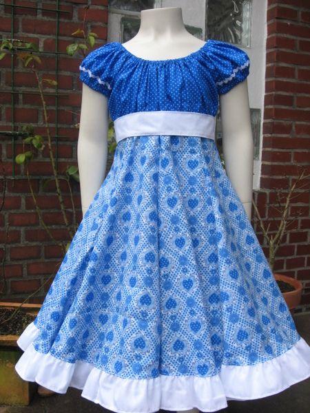 Einschulungskleid Elodie Blau Weiss Gr 122 128 Kinder Kleidung Nahen Kleider Fur Madchen Madchen Kleidung