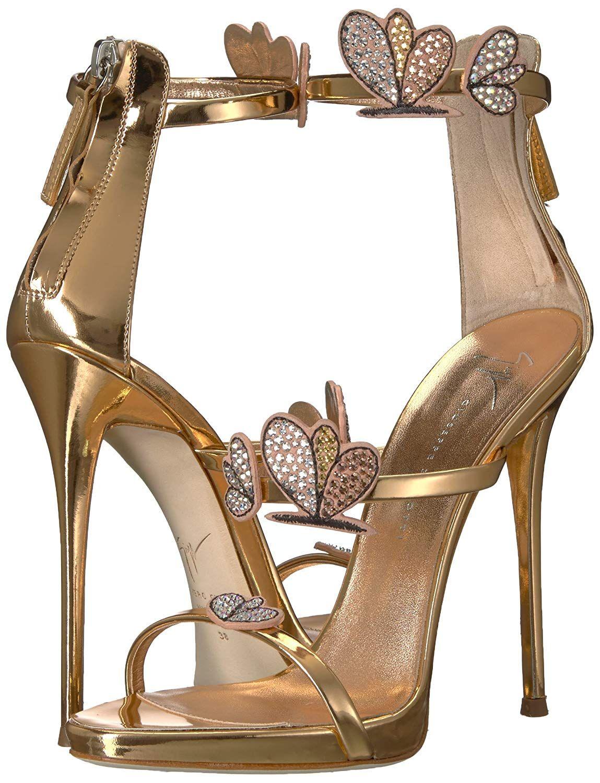Giuseppe Zanotti Women's Gold High Heeled Sandal on Amazon