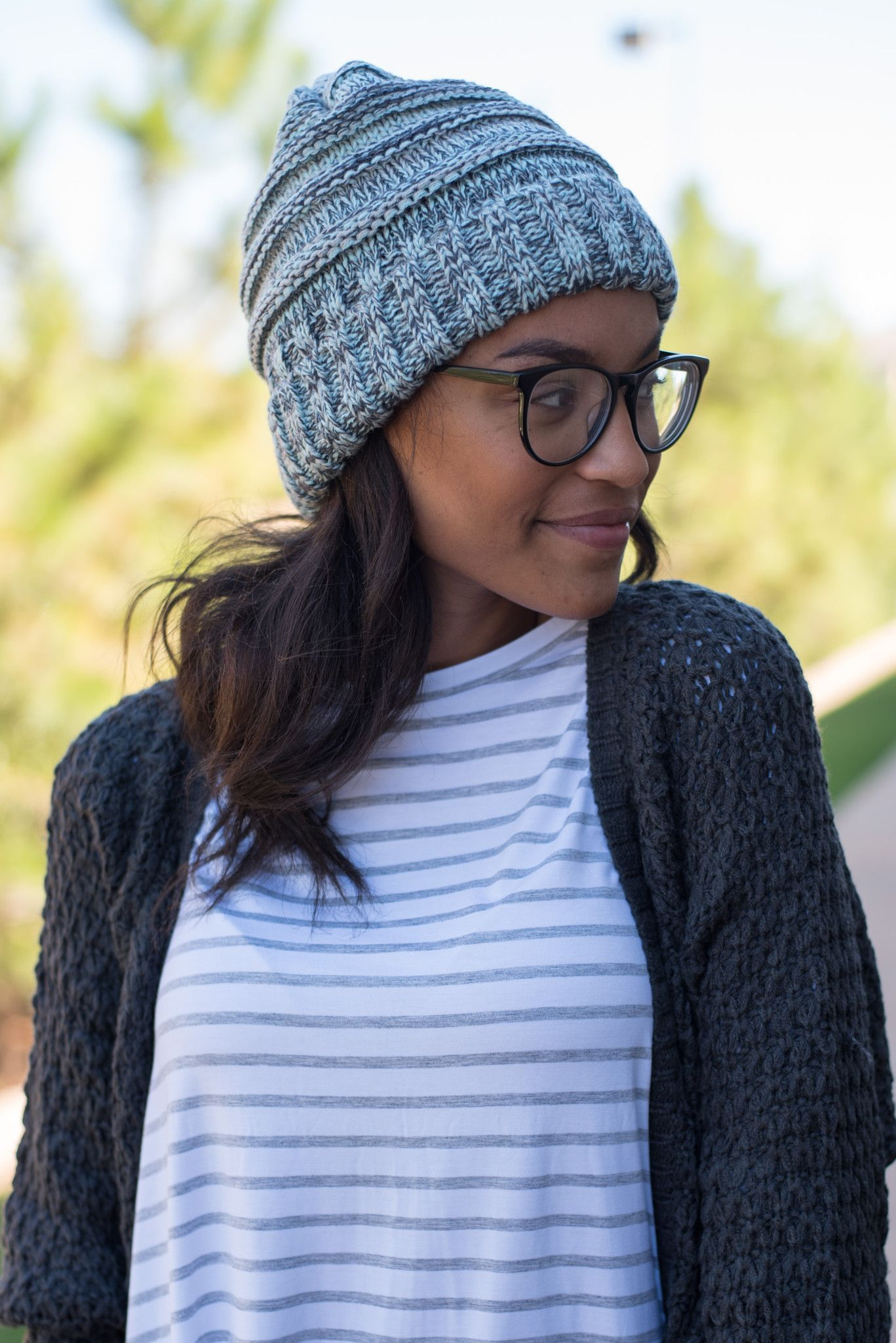 CC oversized slouchy tri color beanie mint from Lush Fashion Lounge ... f98f800985ce