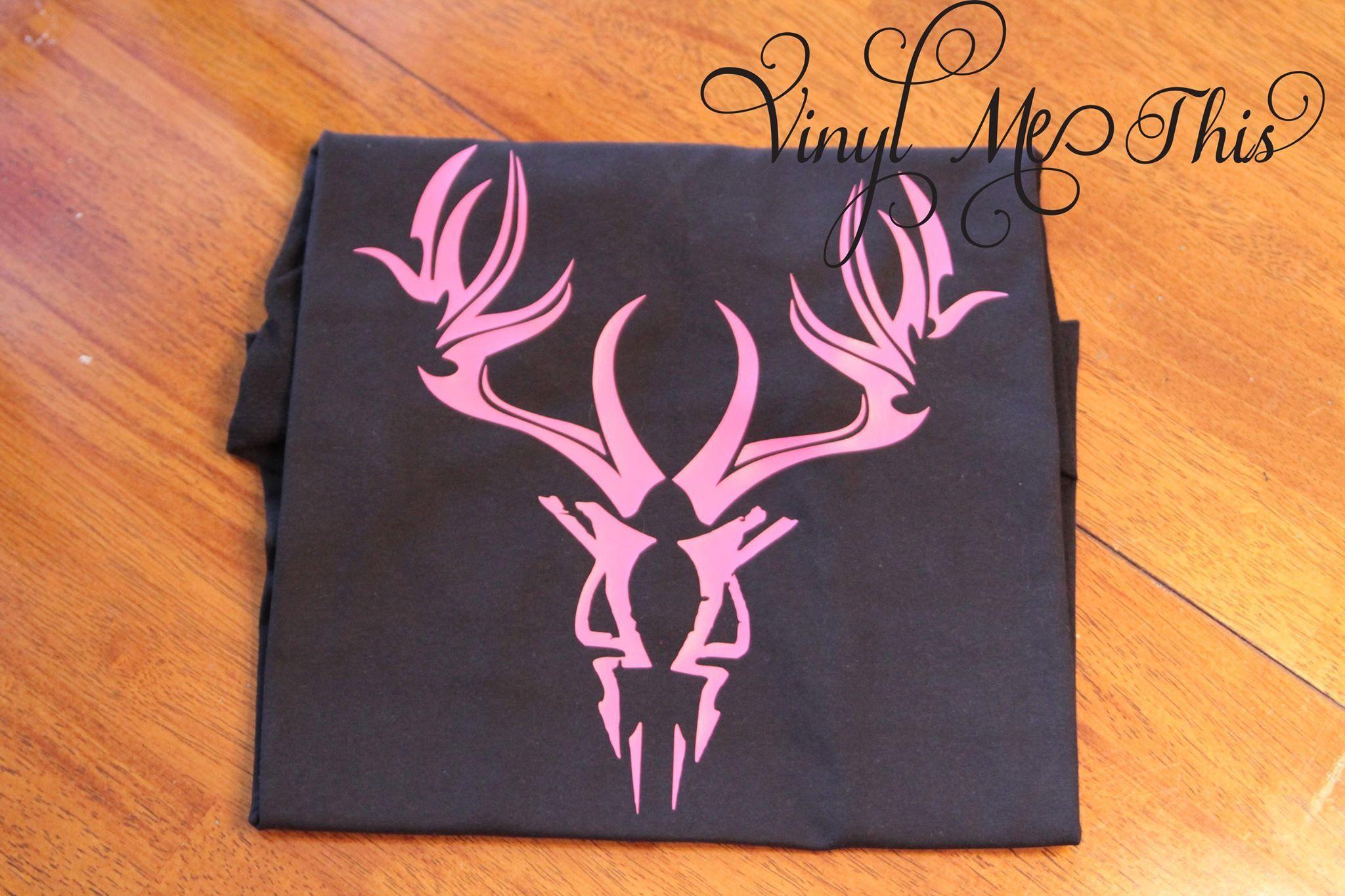 "heat transfer vinyl "" tribal deer skull Crafts, Deer"