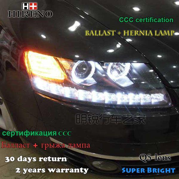 Hireno Car Styling Headlamp For 2005 2008 Audi A6 C5 Headlights Led Headlight Assembly Drl Angel Lens Double Beam H Headlight Assembly Hid Xenon Led Headlights